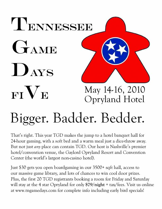 TN Game Days Flier 2010