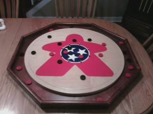 Play on the TGD Crokinole board!