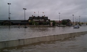 The flooded Mall
